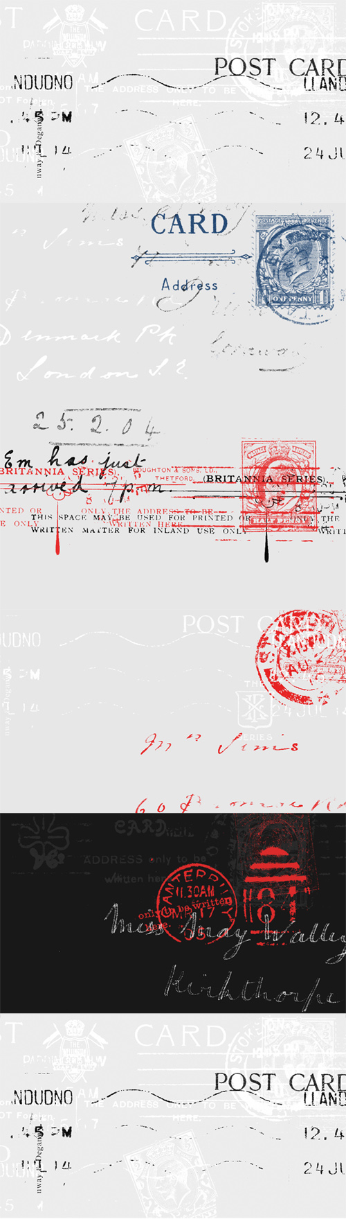 Ink and Postage Stamp Photoshop Brushes