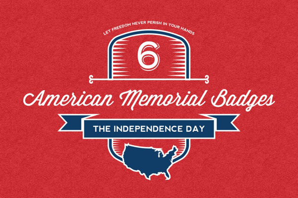American Independence Day Badges