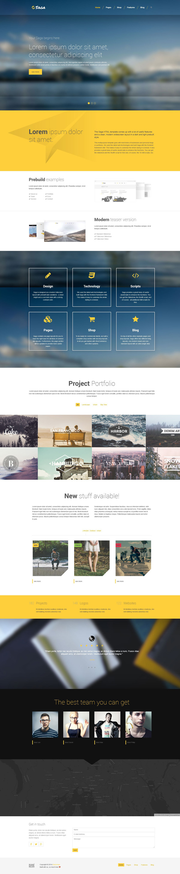 Saga - Multipurpose HTML5/CSS3/LESS template