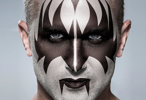 How to Transform a Face into the Makeup of Gene Simmons from KISS in Photoshop CC 2014 Tutorial
