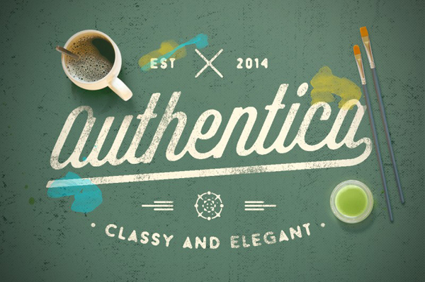 Authentica is modern script that is casual, elegant, and multipurpose.