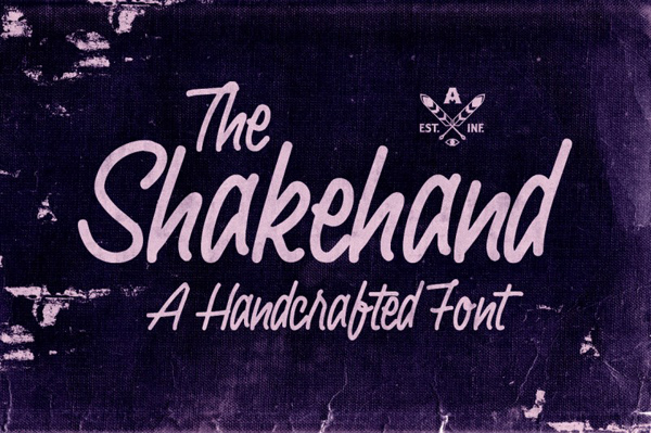 Shakehand typeface is a handdrawn