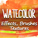 Post Thumbnail of Hand Drawn Watercolor Effects, Brushed & Textures for Designers