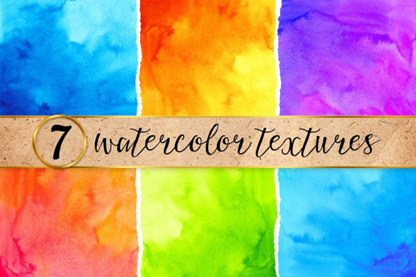 bright watercolor backgrounds