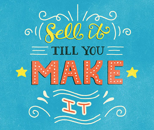 Sell it Lettering