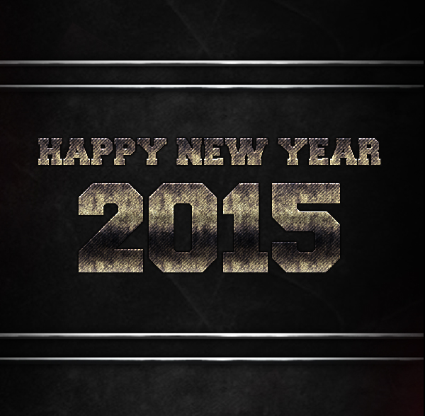 2015 New Year Steel Wallpaper