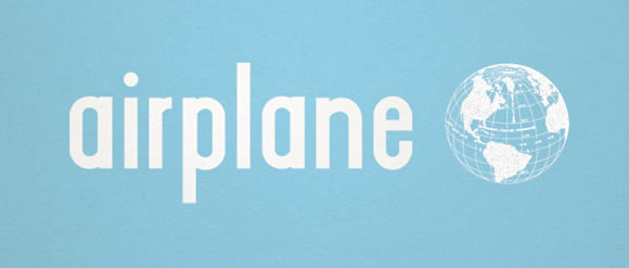 Airplane Free Font for Hipsters