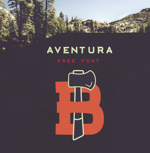 Aventura Free Font for Hipsters