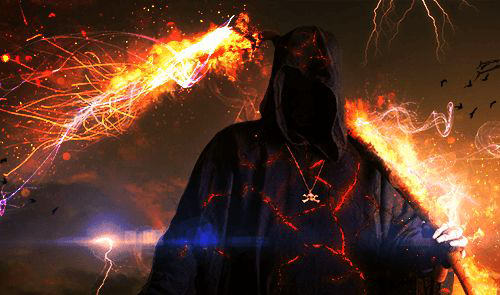 How to Create an Awesome Fiery Grim Reaper by Combining Images