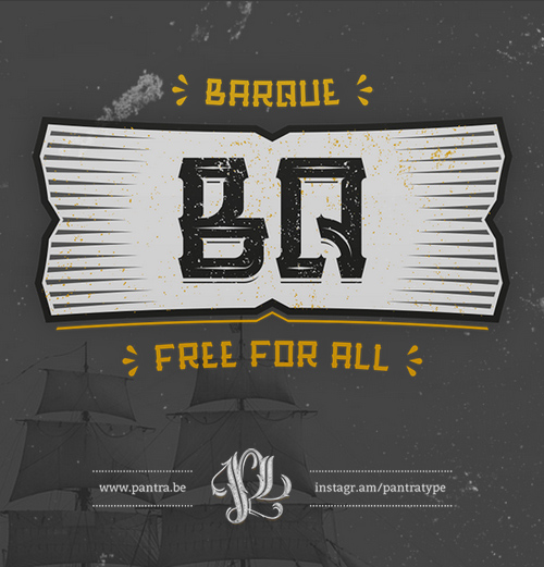 Barque Free Font for Hipsters