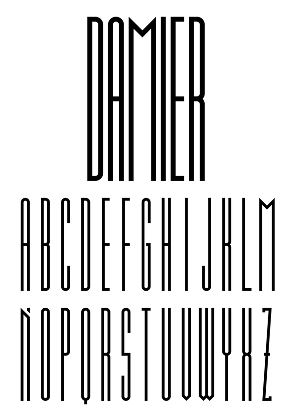 Damier Free Font for Hipsters