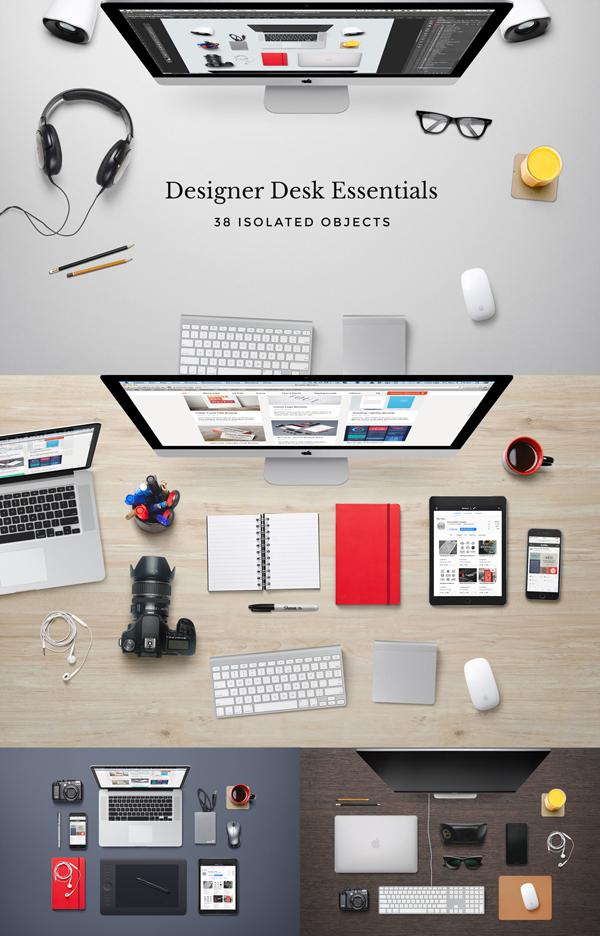 Designer Desk Essentials Mockup