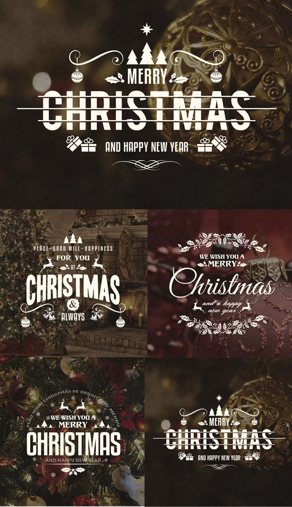 Free Christmas And New Year PSD Badges