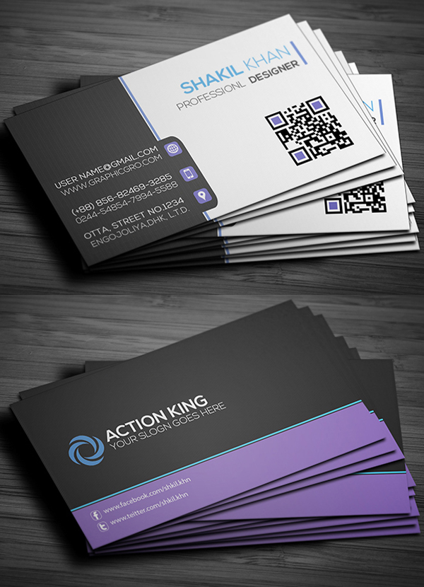 Free business cards psd templates print ready design for Business card design free template