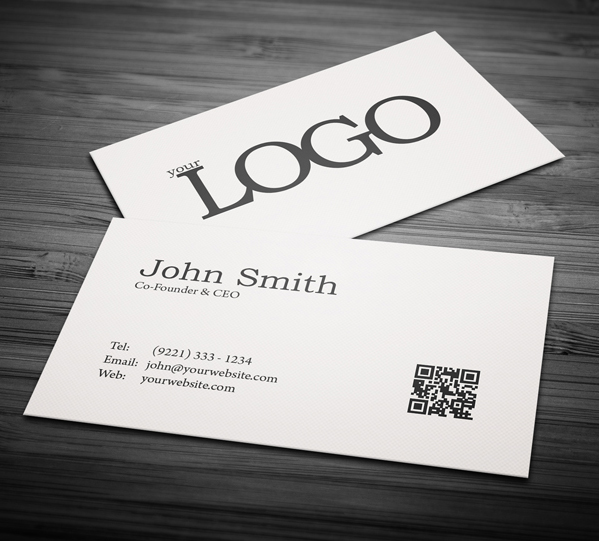 80 best free business card psd templates free minimal business card psd template fbccfo Images