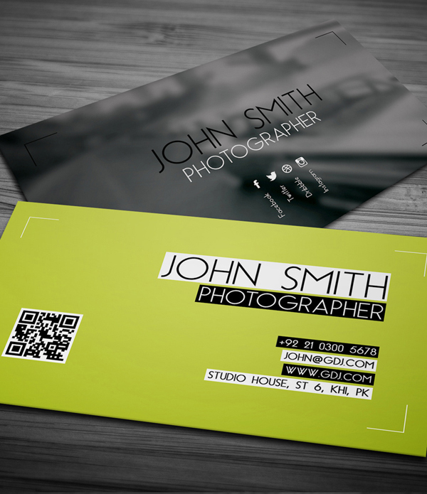 80 best free business card psd templates free photographer business card psd template wajeb Choice Image