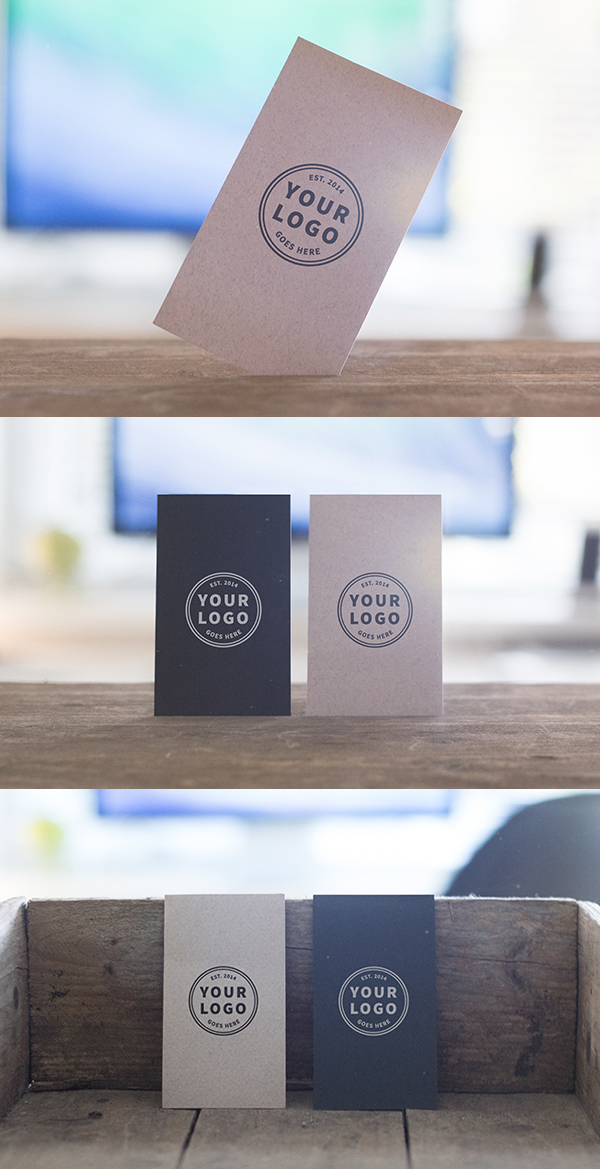 Standing Business Cards Mockups Free