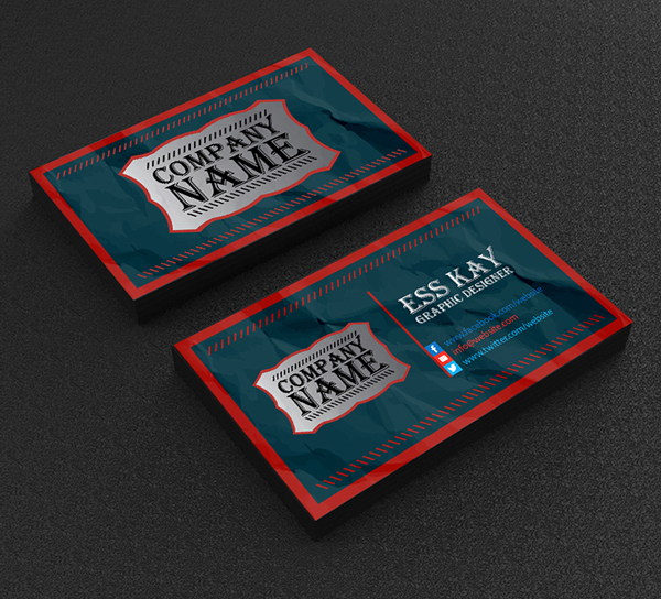 Free Vintage Business Card Template Design