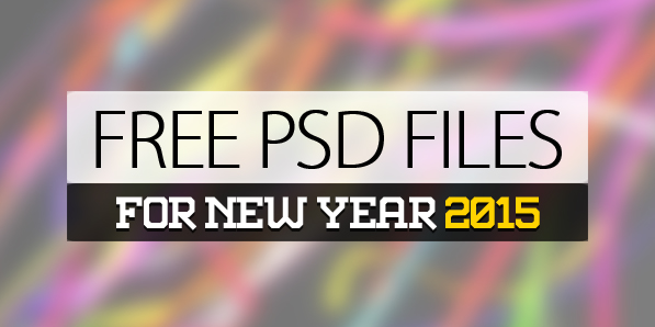 25 Free PSD Files for New Year 2015