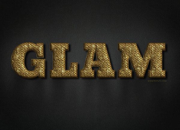 Glam Gold Text Effect + Free PSD Download