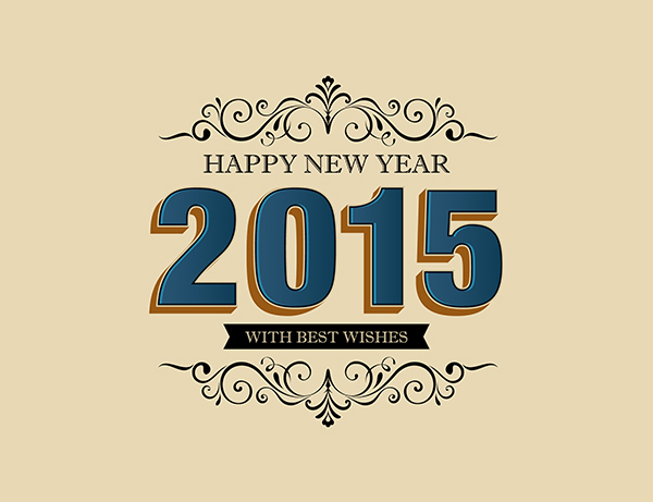 New Year 2015 Greeting Cards