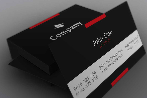 Minimalistic Black Business Card Template