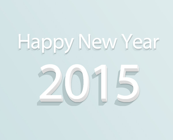New Year Wallpaper Flat Diagonal Shadow Effect