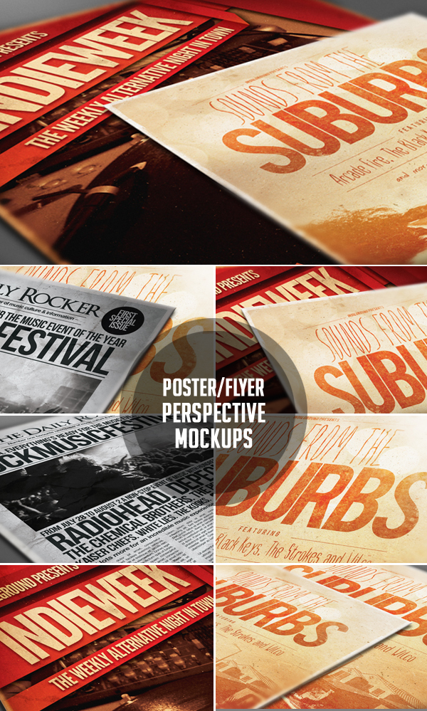 Poster & Flyer Perspective Mockup