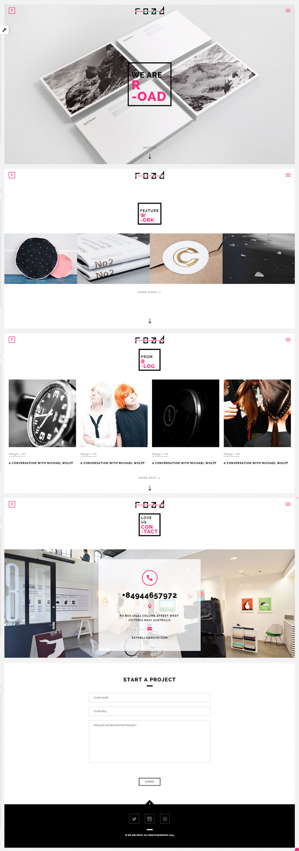 Road - Fullscreen Mutipurpose HTML5 Template