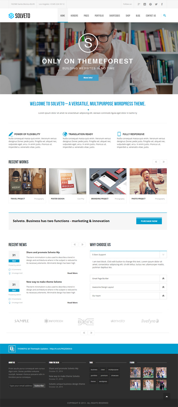 Solveto - Multipurpose Business Template
