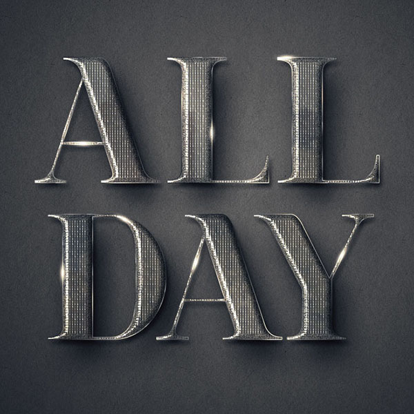Create a Simple, Elegant Textured Metal Text Effect in Adobe Photoshop