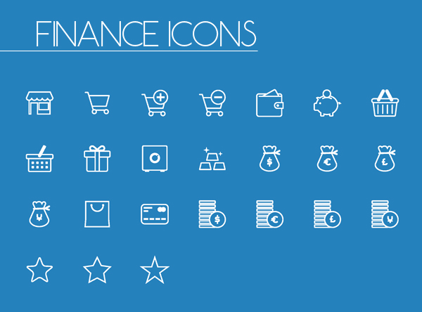 Finance Line and Solid Icons