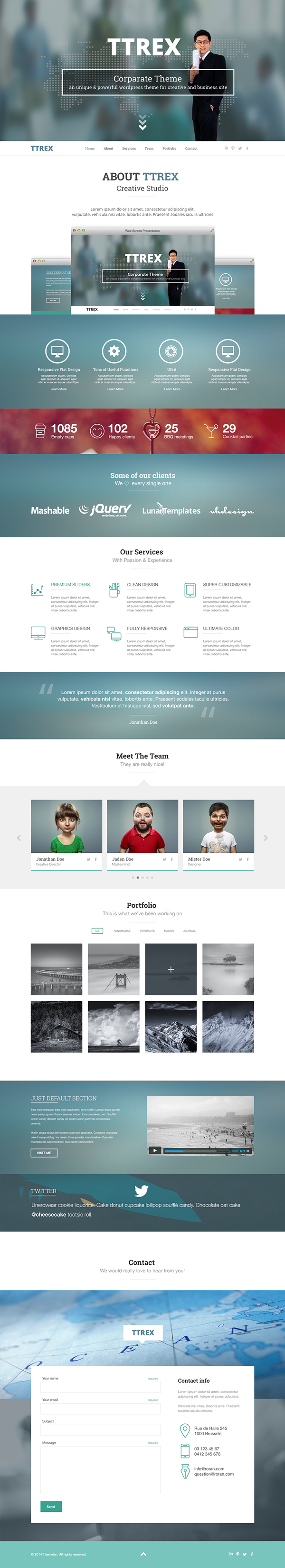 One Page PSD Template Free Dowmload
