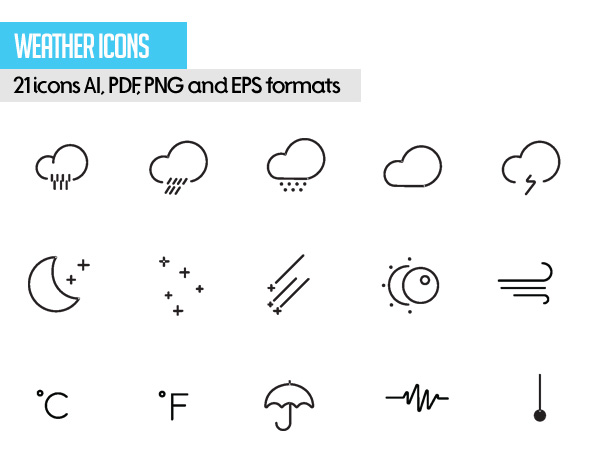 Free Vector Stroke Icons - 7