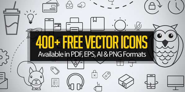 400+ Free Vector Icons for Designers