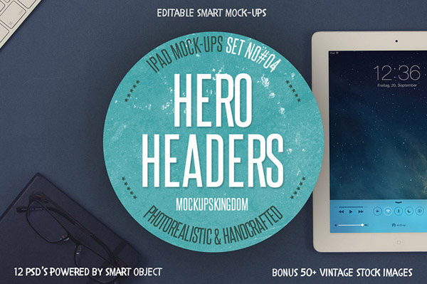 Hero Headers Ipad Mock-ups Set