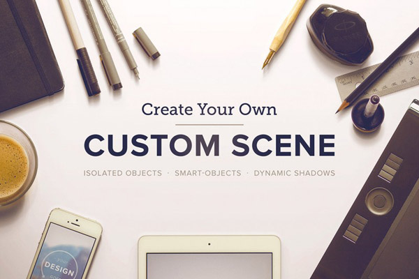 Custom Scene Hero Header Mockups