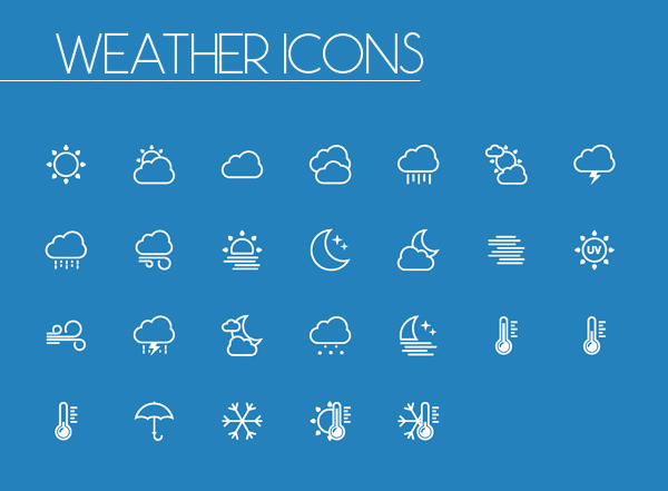 Weather Line and Solid Icons