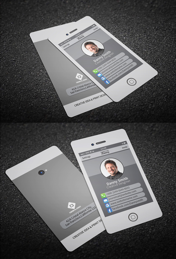 Stylish Smartphone Business Card