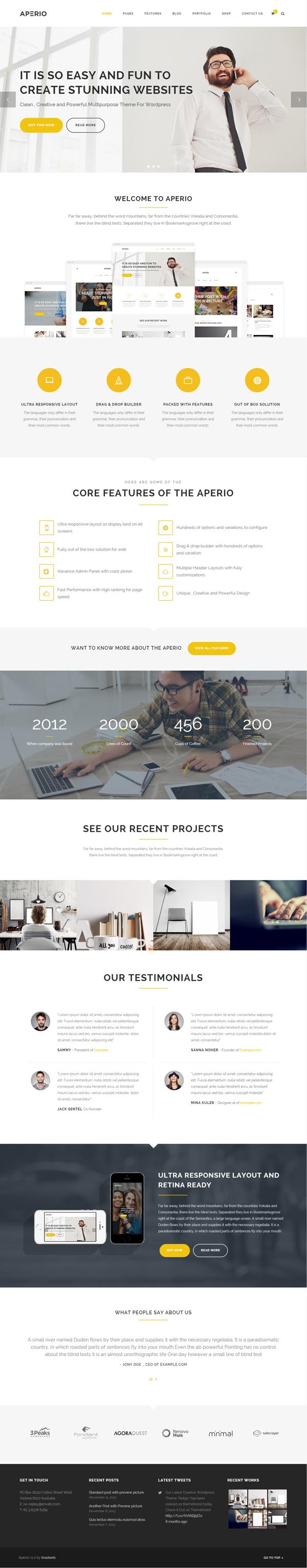 Aperio Multipurpose WordPress Theme