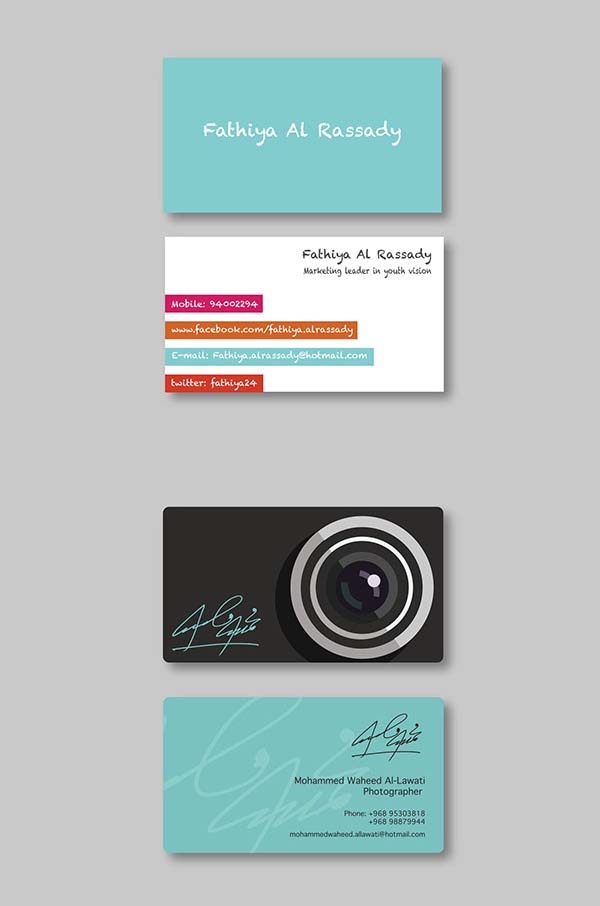 36 modern business cards examples for inspiration design for Example of a business card