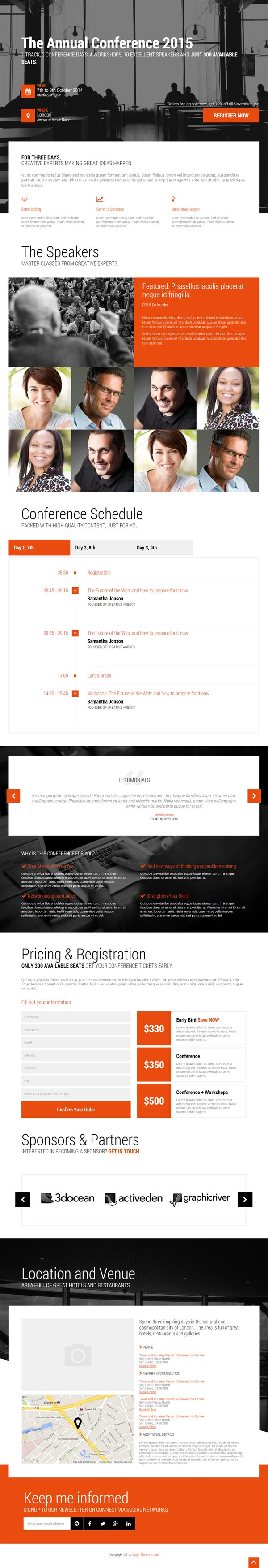 Event - Conference & Event HTML5 Landing Page