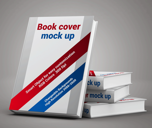 Free Book Cover Display Mockup