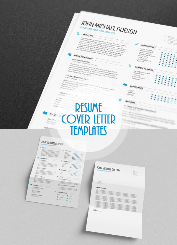 free psd resume and cover letter