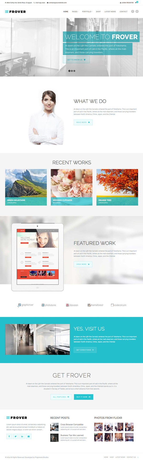 Frover - Multi-Purpose Site Template