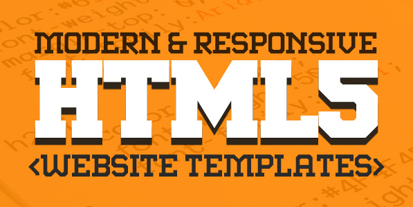 New Responsive HTML5 Website Templates