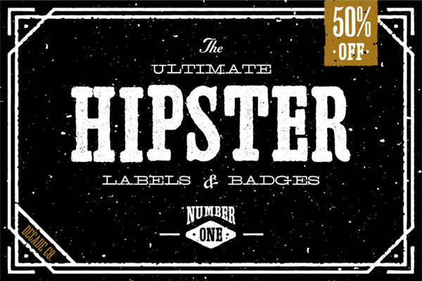 The Ultimate Hipster Labels & Badges