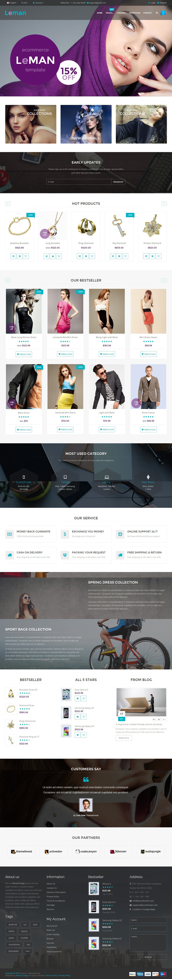 Leman - Responsive E-Commerce Template