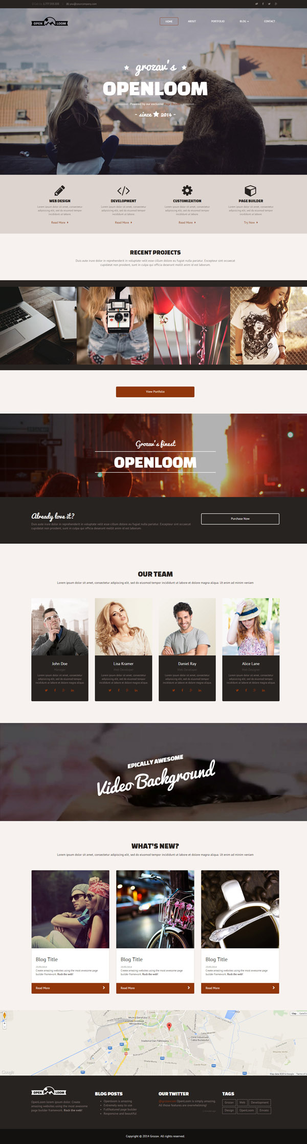 OpenLoom - MultiPurpose Template with Page Builder