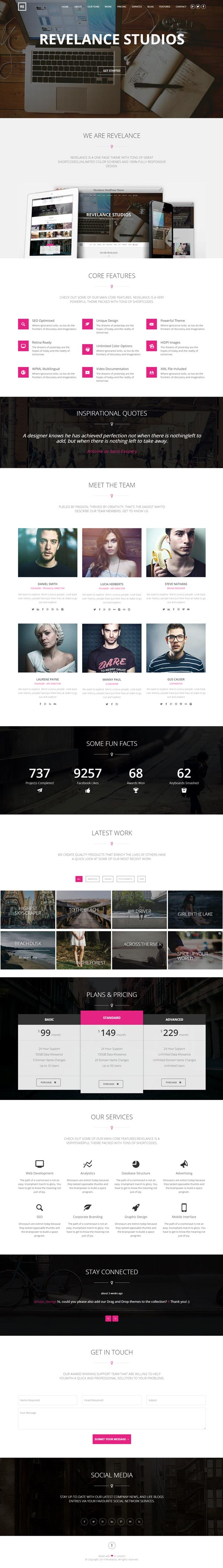 Revelance - Multi/One-Page Parallax HTML Template